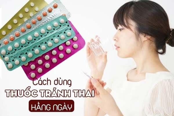 Đối với thuốc tránh thai hằng ngày
