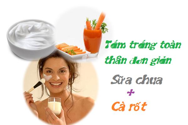 Sữa chua và cà rốt
